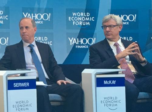 Le chef de la direction de RBC M. Dave Mckay au Forum économique mondial de Davos
